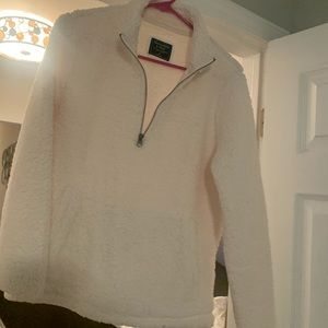 Abercrombie and Fitch fuzzy zip up